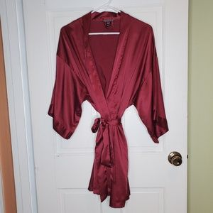Red maroon burgundy Victoria's secret silk robe